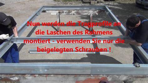 Stahlbalkon Selber Bauen by Aufbau Stahlbalkone