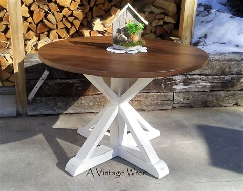 hand  pedestal table modern rustic farm table