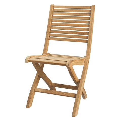 chaise de bateau pliante chaise pliante de jardin en teck massif olé maisons du monde