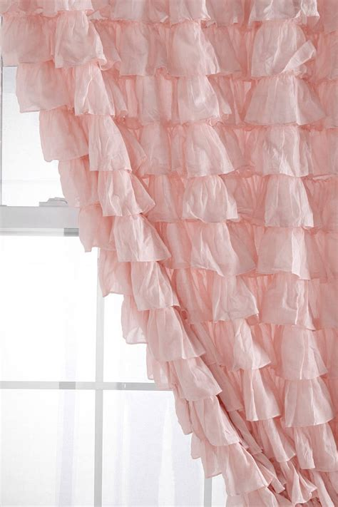 Pink Ruffle Curtains Outfitters by 25 Best Ideas About Pink Curtains On Baby
