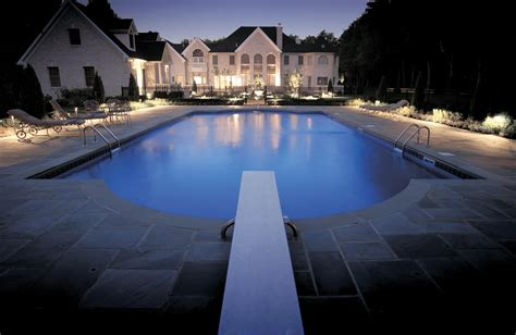 outdoor lighting around swimming pool light can connect indoor and outdoor spaces and screen pools windows and other private areas