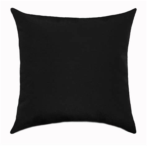 Black Throw Pillows by Black Outdoor Throw Pillow Sundeck Black Solid Outdoor