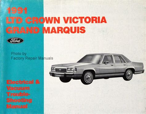 motor repair manual 1993 ford ltd crown victoria electronic toll collection 1991 ford crown victoria mercury grand marquis electrical vacuum and troubleshooting manual