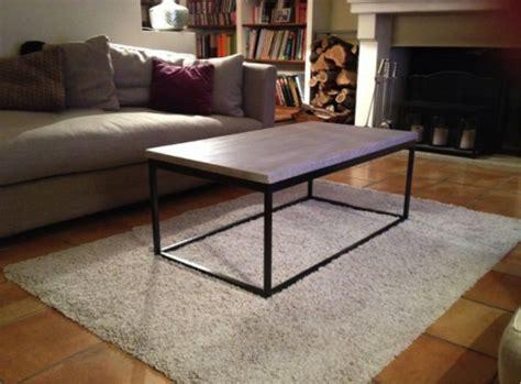 bout de canapé romy rectangulaire contemporain table table basse fer forgé et chêne patiné coup de soleil