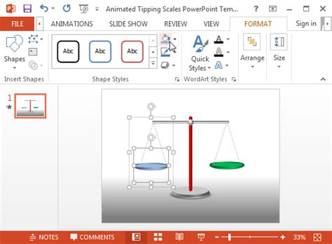 balanza template powerpoint free animated tipping scales powerpoint template