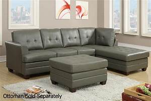 21 ideas of gray leather sectional sofas sofa ideas for Leather sectional sofa outlet