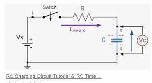 A Capacitor Is Connected In Series With A Resistor And