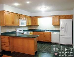 Kitchen Transformation: White Cabinets & Painted Counters ...