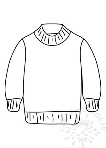 wool sweater clothes coloring page