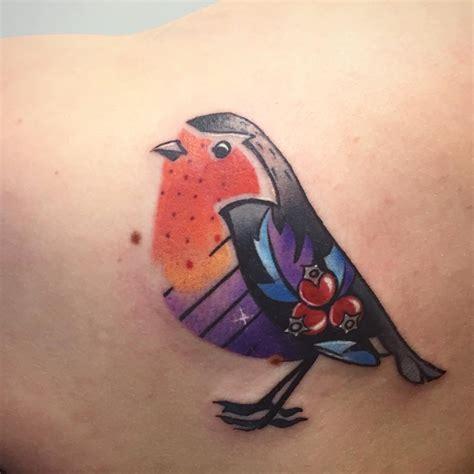 Tatouage Oiseau Couleur  20 Tatouages D'oiseau Qui Vont