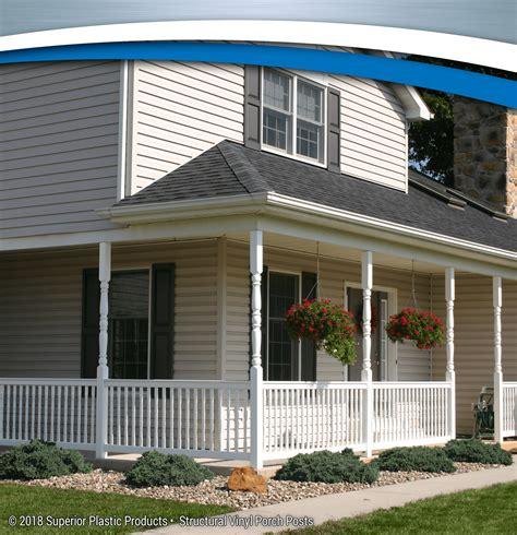 structural vinyl porch posts superior plastic products