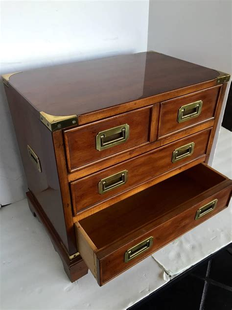 Drexel Heritage Dresser Hardware by Miniature Drexel Heritage Caign Chest Of Drawers At 1stdibs