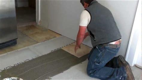 install ceramic tiles   floor youtube