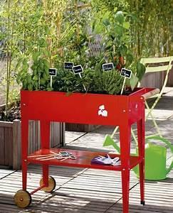 Jardiniere Sur Roulette : potager en ville jardini re pour terrasse et balcon c t maison ~ Farleysfitness.com Idées de Décoration