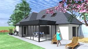 Agrandissement Maison : extension maison 1 2 vue architecte lise roturier ~ Nature-et-papiers.com Idées de Décoration