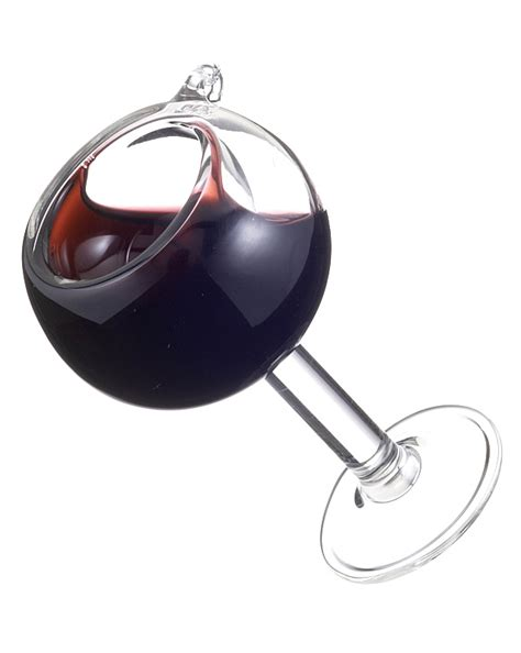 balloon red wine glass christmas ornament his and hers