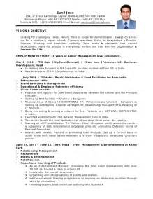 resume format for sales and marketing in india cv format