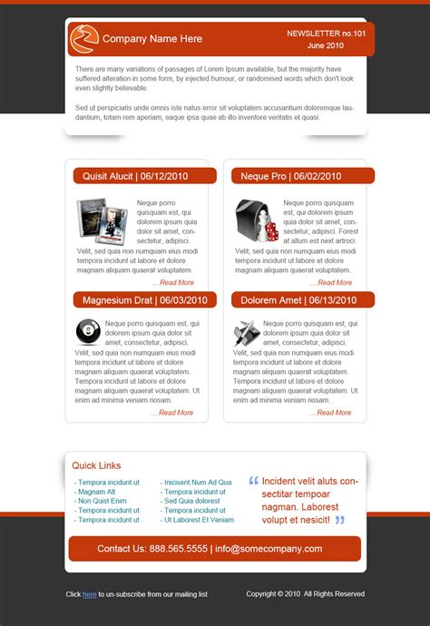 Best Free Email Newsletter Design Templates » Latest