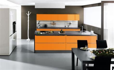 cuisine en orange quelle couleur pour votre cuisine équipée cuisine