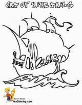 Pirate Coloring Ship Boys Ships Yescoloring Pirates Seas sketch template