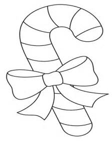 Small Candy Cane Coloring Pages