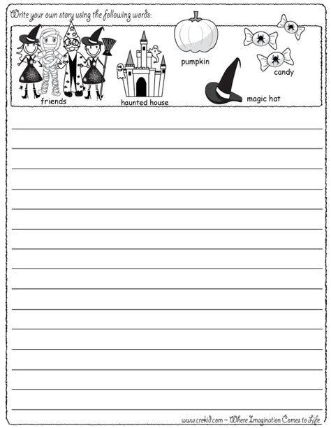 halloween writing fun write your own story using our