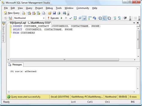 sql insert into new table slacker dba sql statements including sql insert sql
