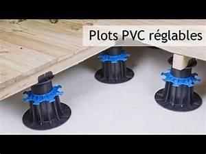 Plot Reglable Terrasse : plots pvc r glables pour terrasse bois et dalle youtube ~ Edinachiropracticcenter.com Idées de Décoration