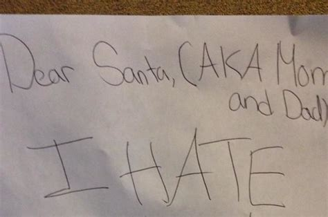 Sus An Unintentionally Hilarious Letter To Santa