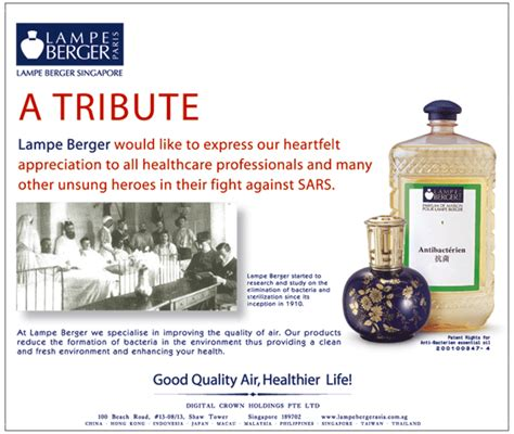 Le Berger Wick Singapore by Le Berger Helped Fight Sars Virus Le Berger