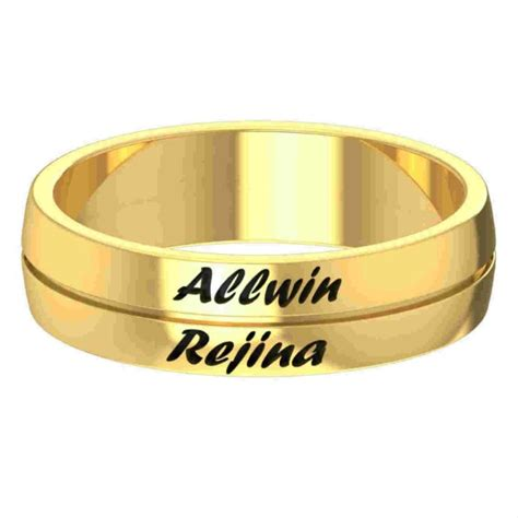 husband and name engraved gold ring gold rings for