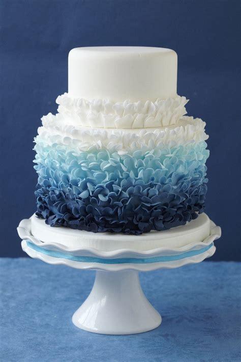 fabulous ombre wedding cakes belle  magazine