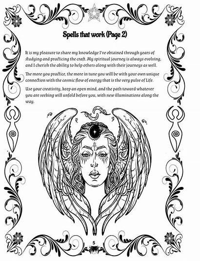 Magic Spells Coloring Fertility Pregnant Wicca Spell