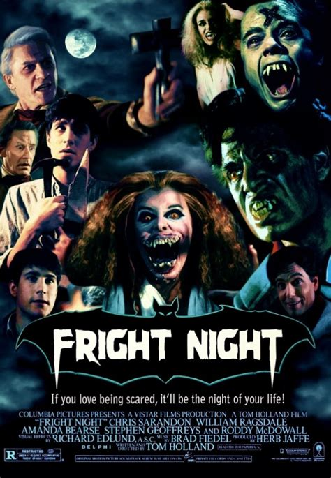 fright night 1985 poster movie vampire movies horror posters october remake film fanatic hora 1st sarandon chris rather would profile