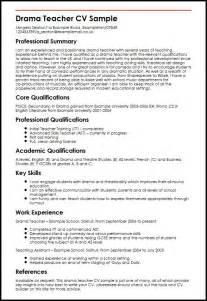 proper exle of a resume drama cv sle myperfectcv