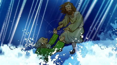 Jesus Walks On Water Story Kids