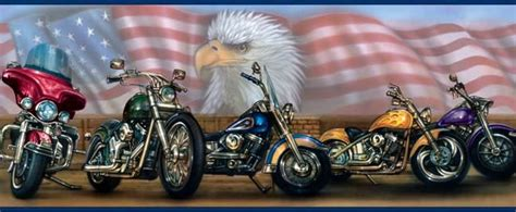 Pictures Of A Motorcycle With Amarcan Flag In Backround