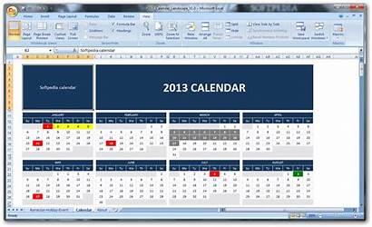 Calendar Excel Template Screenshot Softpedia Screenshots