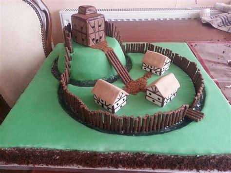 motte  bailey cake   sons school project won