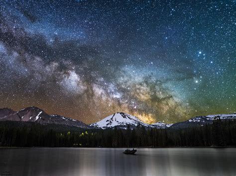 Milky Way Rising Over Lassen Northern California