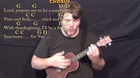 Sanctuary (praise Song) Ukulele Cover Lesson In G With