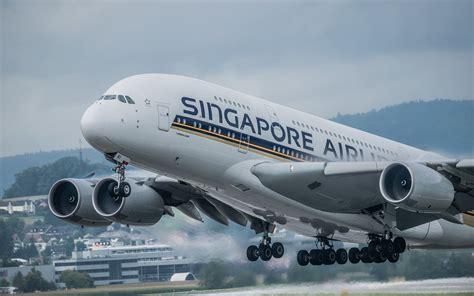 telecharger fonds decran avion de ligne singapore