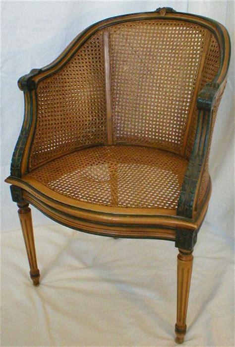 barrel back chair before repair chair caning wicker repair