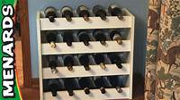 how to build wine racks Wine Rack - How To Build - Menards - YouTube