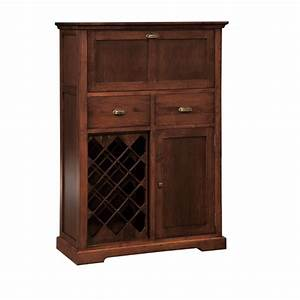 Stanford Small Bar Cabinet - Home Envy Furnishings: Solid