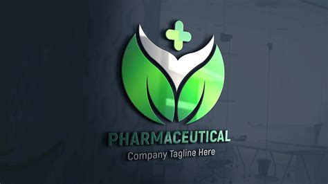 pharmaceutical logo design  psd template graphicsfamily