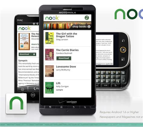 ereader for android barnes noble intros android ereader app