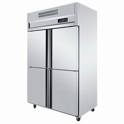 Refrigerator Commercial Kitchen Stainless Steel Doors Restaurant