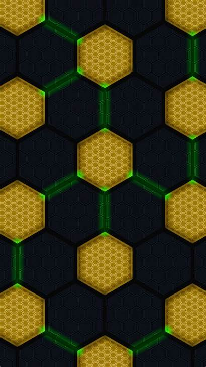 Diagram Hexagons Circles Connections Glow S4 Galaxy