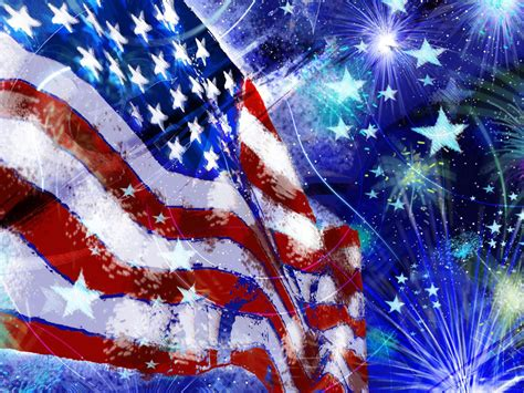 american flag red white blue fireworks stars independence